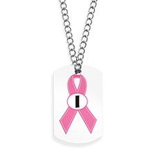 Breast Cancer 1 Year Ribbon Dog Tags