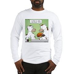 Cow Fast Food Long Sleeve T-Shirt