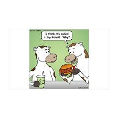 Cow Fast Food Wall Decal