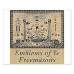 Masonic Emblems Small Poster