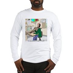 Cartoonist at Work Long Sleeve T-Shirt