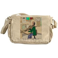 Cartoonist at Work Messenger Bag