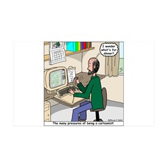 Cartoonist at Work 35x21 Wall Decal