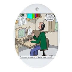Cartoonist at Work Ornament (Oval)