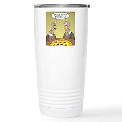 Buzzard Pizza Stainless Steel Travel Mug