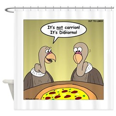 Buzzard Pizza Shower Curtain