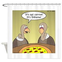 Buzzard Pizza Shower Curtain