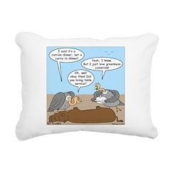 Buzzard Carry-In Dinner Rectangular Canvas Pillow
