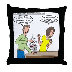 Bucket of Meat Throw Pillow