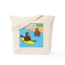 Bear Kayaking Tote Bag