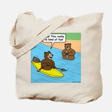 Bear Kayaking Tote Bag