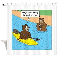 Bear Kayaking Shower Curtain