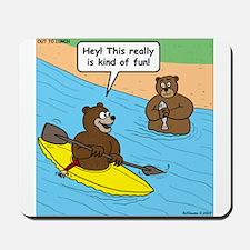 Bear Kayaking Mousepad