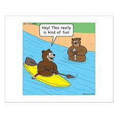 Bear Kayaking Posters