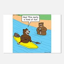 Bear Kayaking Postcards (Package of 8)