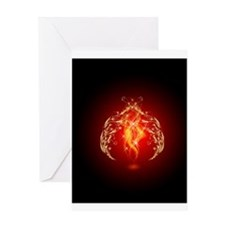 Elven Flame Greeting Cards