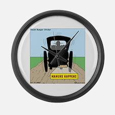 Amish Bumper Sticker Large Wall Clock