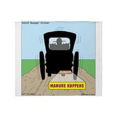 Amish Bumper Sticker Throw Blanket