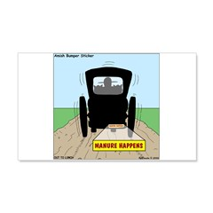 Amish Bumper Sticker Wall Decal