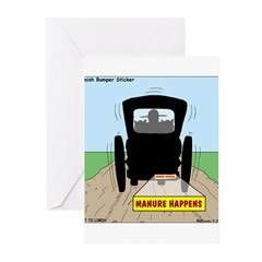 Amish Bumper Sticker Greeting Cards (Pk of 10)
