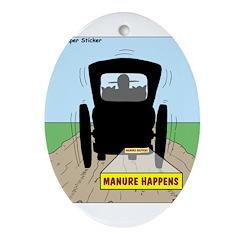 Amish Bumper Sticker Ornament (Oval)