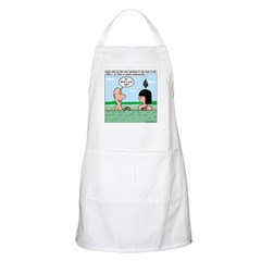 Adam and Eve Pickup Lines Apron