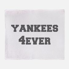 yankees-4ever-fresh-gray Throw Blanket
