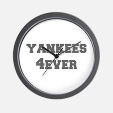 yankees-4ever-fresh-gray Wall Clock