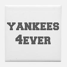 yankees-4ever-fresh-gray Tile Coaster