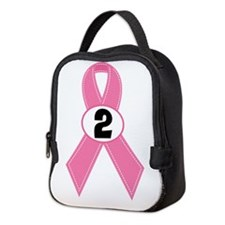 Breast Cancer 2 Year Ribbon Neoprene Lunch Bag