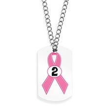 Breast Cancer 2 Year Ribbon Dog Tags