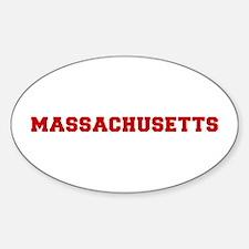 massachusetts-fresh-dark-red Decal