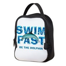 TOP Swim Slogan Neoprene Lunch Bag
