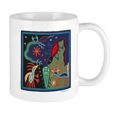 Huichol Art: 'Lizard Dreams' Ceramic Mug