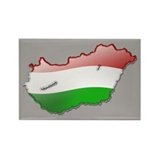 """Hungary Bubble Map"" Rectangle Magnet"