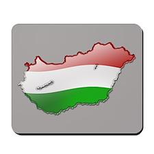 """Hungary Bubble Map"" Mousepad"