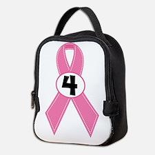 Breast Cancer 4 Year Ribbon Neoprene Lunch Bag