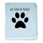 got Siberian Husky? baby blanket