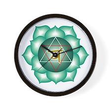 Heart Chakra Wall Clock