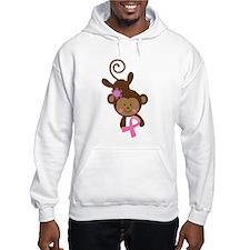 Breast Cancer Ribbon Monkey Hoodie