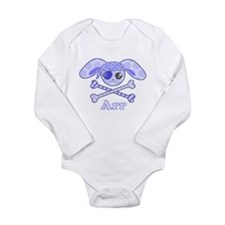 Cute Pirate Bunny Long Sleeve Infant Bodysuit
