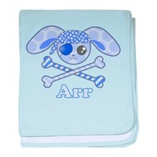 Cute Pirate Bunny baby blanket