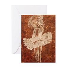 Teeny Ballerina Greeting Card