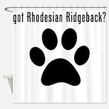 got Rhodesian Ridgeback? Shower Curtain