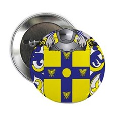 "Woodson Family Crest (Coat of Arms) 2.25"" Button"