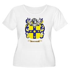 Woodson Family Crest (Coat of Arms) Plus Size T-Sh