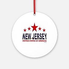New Jersey U.S.A. Ornament (Round)