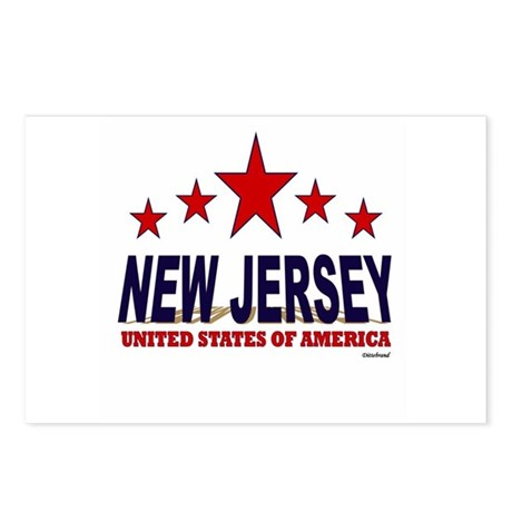 New Jersey U.S.A. Postcards (Package of 8)