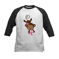 Breast Cancer Pink Ribbon Monkey Baseball Jersey