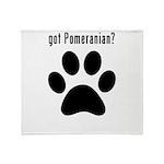 got Pomeranian? Throw Blanket
